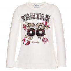Monnalisa Langarmshirt T-Shirt St. Tartan