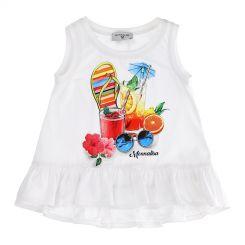 Monnalisa Tunika T-Shirt Lunga St. Summer