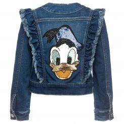 Monnalisa Jeansjacke Paperino Donald Duck