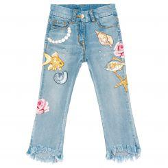 Monnalisa Jeans Sfrangiati Fish