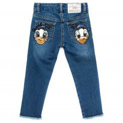 Monnalisa Jeans Sfrangiati Donald Duck