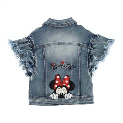 Monnalisa Jeansweste Giacca Jeans Cuore Tatoo