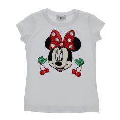 Monnalisa T-Shirt Ciliegie Minnie Maus