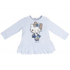 Monnalisa Tunika Maxi T-Shirt Stampata Hello Kitty