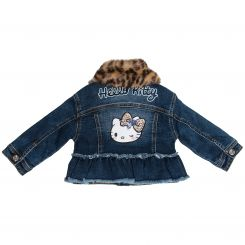 Monnalisa Jeansjacke Giubbotto Jeans Gelpa Hello Kitty