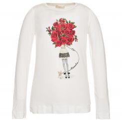 Monnalisa Langarmshirt T-Shirt St. Mazzo Rose