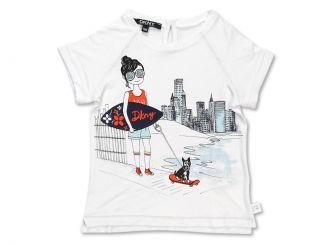 DKNY T-Shirt Girl weiss