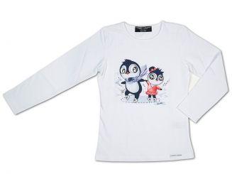 T-Shirt T-Shops Langarmshirt Pinguin