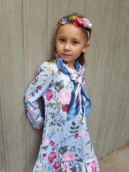 Monnalisa Kleid Abito Gala Bouquet