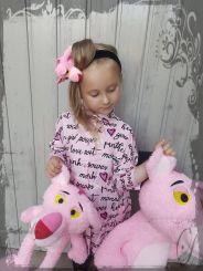 Monnalisa Bluse Camicia Fantaisa Pink Panther