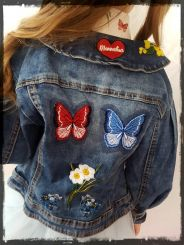 Monnalisa Jeansjacke Giacca Jeans Ricamo
