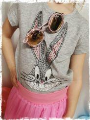 Monnalisa T-Shirt Regular Stampata Bugs Bunny