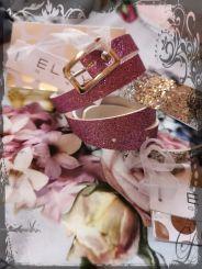 Elsy Gürtel Glitter rosa
