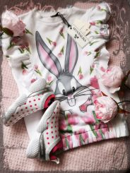 Monnalisa Kleid Abito Stampato Gale Bugs Bunny