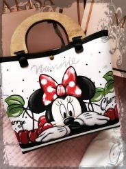 Monnalisa Tasche Borsa Stampata Minnie Mouse