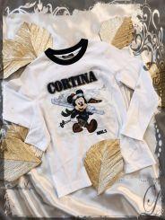 Monnalisa Langarmshirt T-Shirt St. Cortina Mickey Mouse