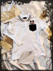 Monnalisa Jungen Poloshirt Taschino Mickey Mouse