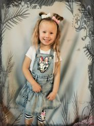 Monnalisa Kleid Salopette in Jeans Daisy Duck