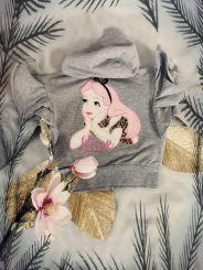 Monnalisa Sweatshirtjacke Felpa Zip Alice im Wunderland