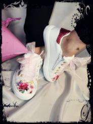Monnalisa Sneaker Flowers