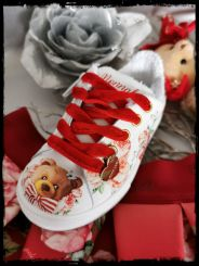 Monnalisa Schuhe Sneaker Teddy e Roses
