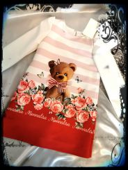 Monnalisa Kleid Scamiciata Teddy Bear