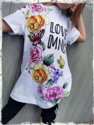 Monnalisa Maxi T-Shirt St. Flowers
