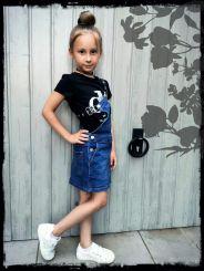 Calvin Klein Kleid Denim Dungaree Dress