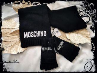 Moschino Set Schal und Handschuhe