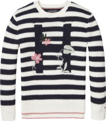 Tommy Hilfiger Strickpullover Embro Stripe Sweater