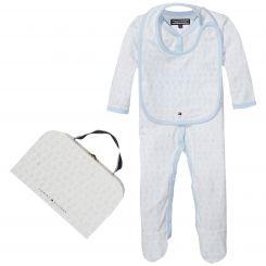 Tommy Hilfiger Geschenkset Strampler und Lätzchen New Preppy Baby Suitcase