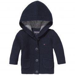 Tommy Hilfiger Strickjacke Solid Texture Baby Cardigan