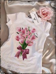 Monnalisa T-Shirt St. Mazzo Tulipani