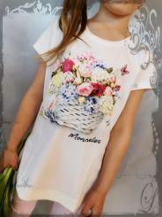 Monnalisa T-Shirt St. Spring Basket