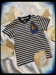 Monnalisa T-Shirt Serafino Righe