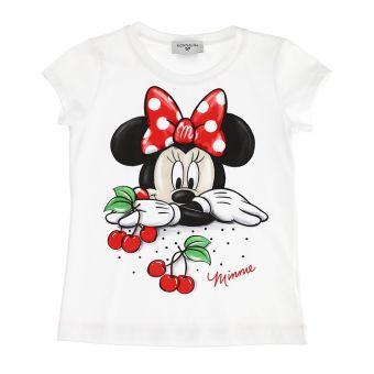 Monnalisa T-Shirt St- Pois + Cilieginie Minnie Maus