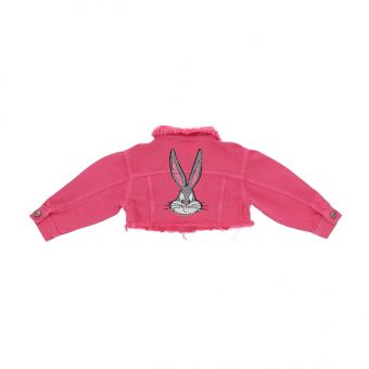 Monnalisa Jeansjacke Giacchino Corto Fringed Bugs Bunny