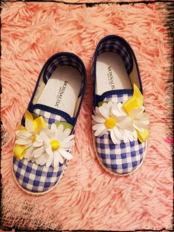 Monnalisa Schuhe Slip on Vichy Margherite