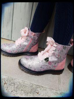 Monnalisa Schuhe Stiefel Anfibio Flitter St. Vinta