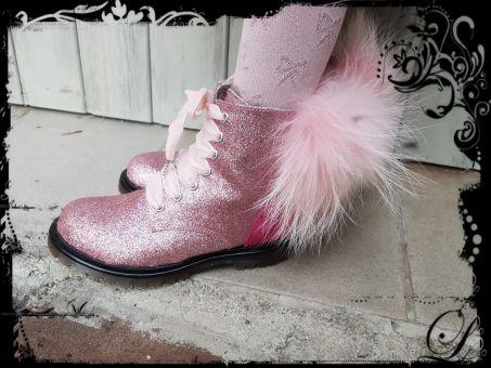 Monnalisa Schuhe Stiefel Anfibio Pon Pon