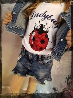 Monnalisa T-Shirt St. Coccinella Ladybug 195608R8