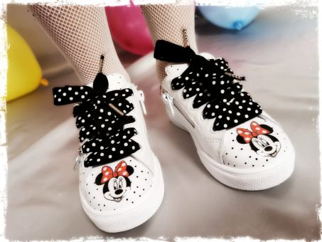 Monnalisa Schuhe Sneaker Iconic Cuore Minnie Maus