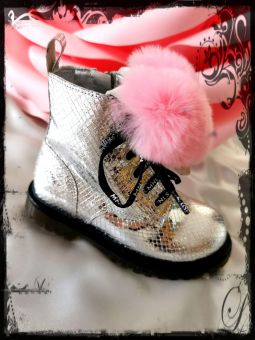 Monnalisa Boots Anfibio Cuore Pellicci