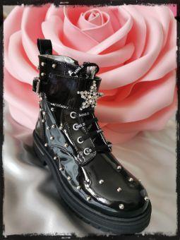 Monnalisa Boots Anfibio Vernice Stella