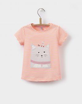 Joules T-Shirt Katze